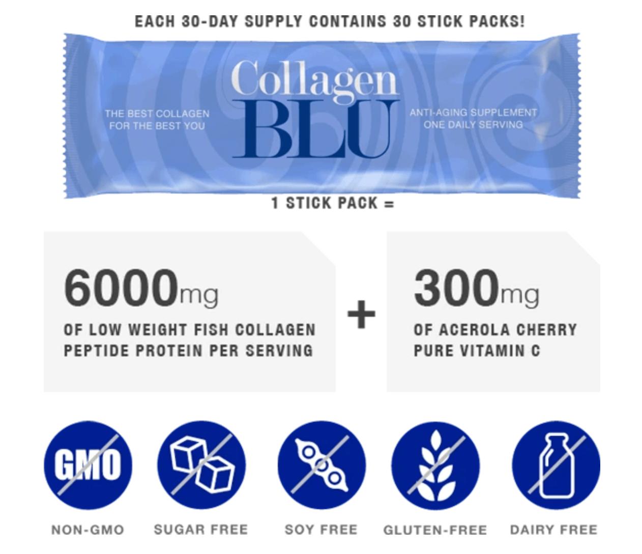 Collagen BLU Stick Pack